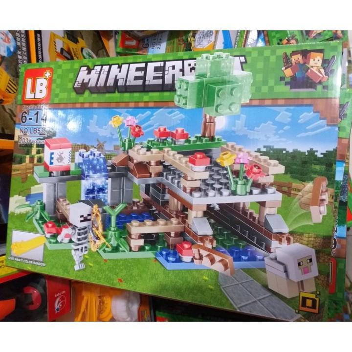Lắp ráp xếp hình lego minecraft my world LB539: Khu vui chơi mạo hiểm (ảnh thật)