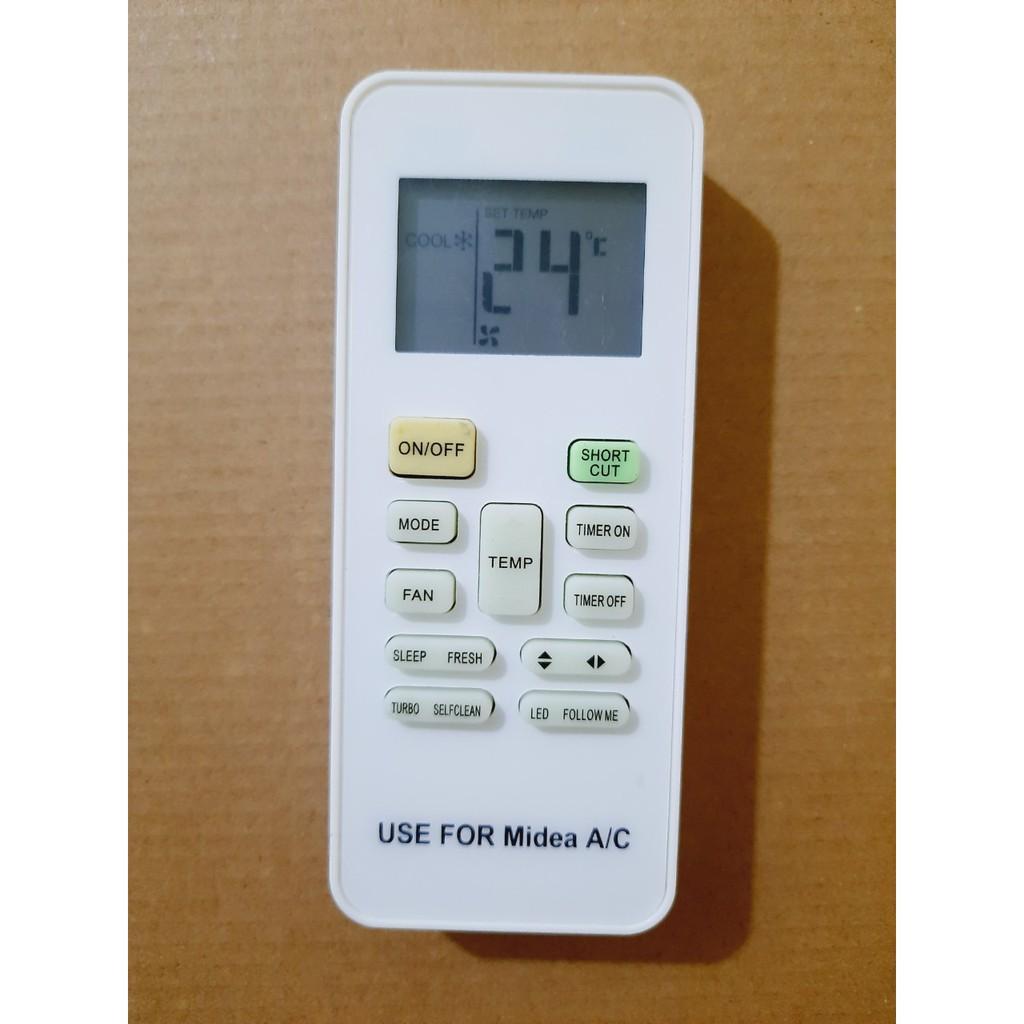 Remote Điều khiển điều hòa Midea 1& 2 chiều Inverter MSAFA MSAF MSAB MSFR- Hàng mới tốt 100% Tặng Pin