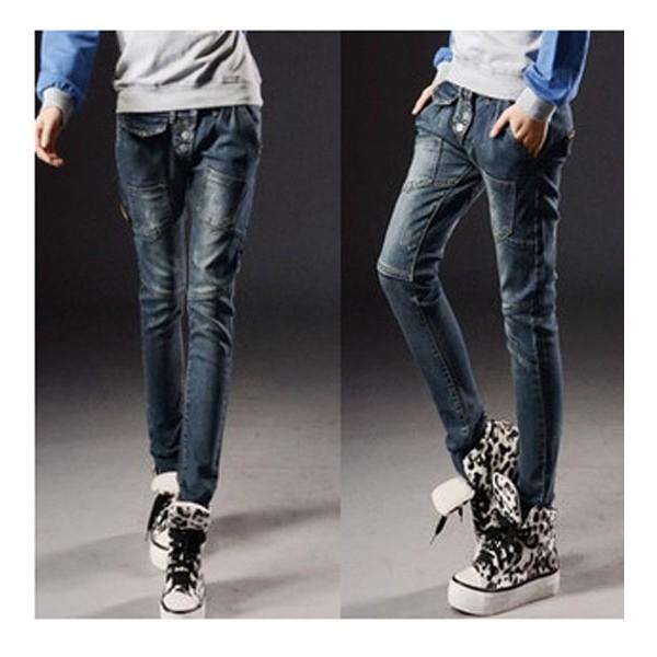 quần jeans dài nhiều túi