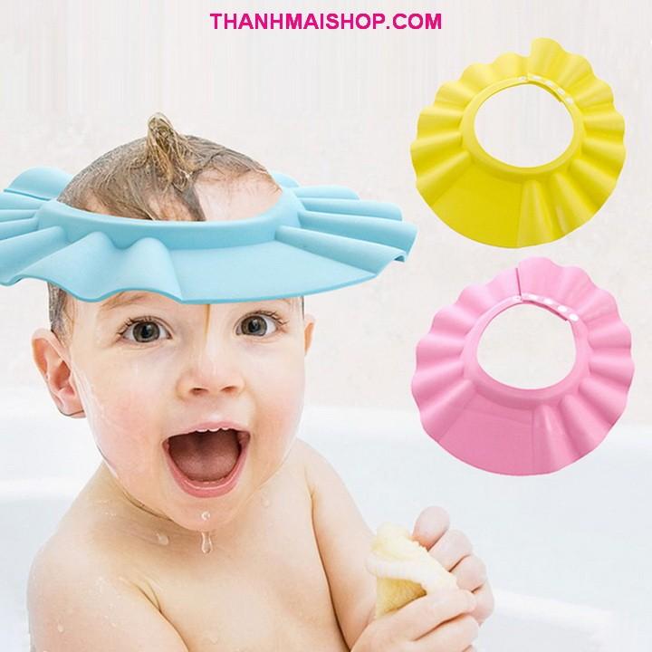 Combo 2 mũ nón BE008x2 chắn nước và chắn tóc cho bé