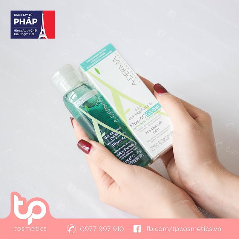 Set Kem Dưỡng A-Derma Phys-AC Global 40ml và Sữa Rửa Mặt A-Derma Gel Moussant Purifiant Phys-Ac 100ml