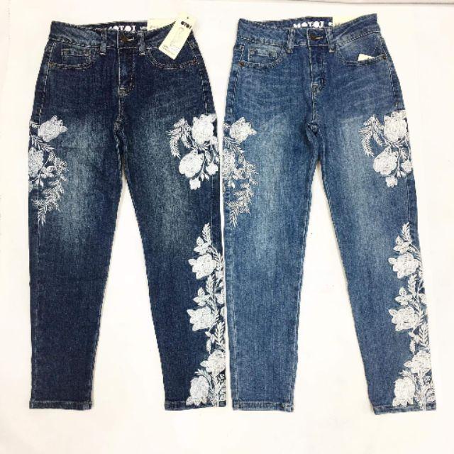 ShiHouse - vnxk - quần jean thêu hoa