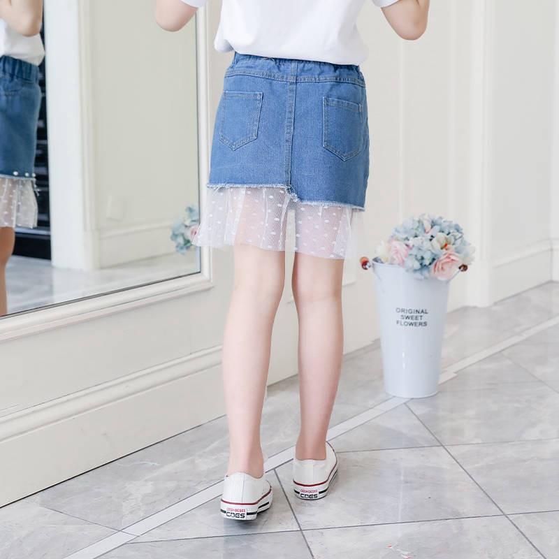 Chân Váy Denim Thời Trang Xinh Xắn Cho Bé Gái