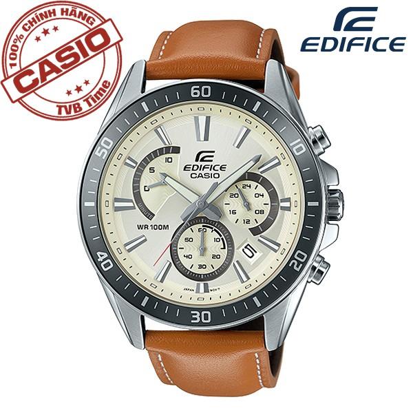[Mã WTCHMALLTET hoàn 100k xu đơn 499K] Đồng hồ nam dây da Casio Edifice Anh Khuê EFR-552L-7AVUDF
