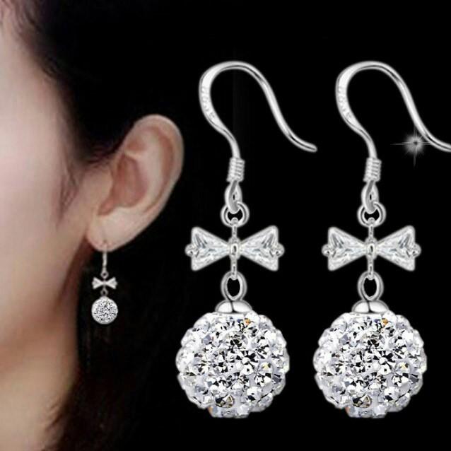 ☀Bông tai trai châu nơ phong cách Hàn