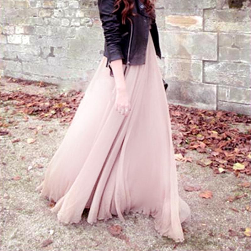 Chân Váy Nữ Lưng Cao Xếp Ly Thời Trang