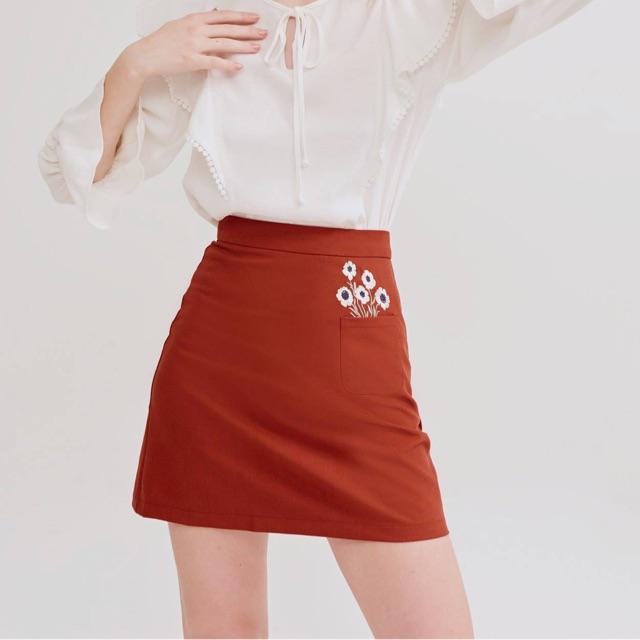 [Thanh lý] Chân váy thêu hoa Marc fashion
