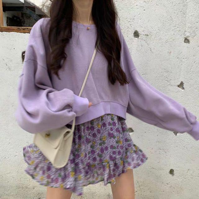 Set áo croptop và chân váy bèo
