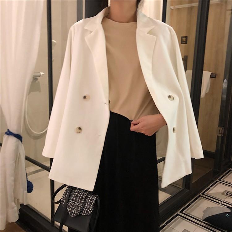 Áo vest 2 màu đen trắng | Áo blazer áo khoác ngoài (Ảnh thật cuối)