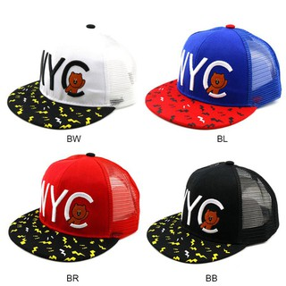 Summer Boys and Girls Fashion Embroidery NYC Hip Hop Baseball Net Cap