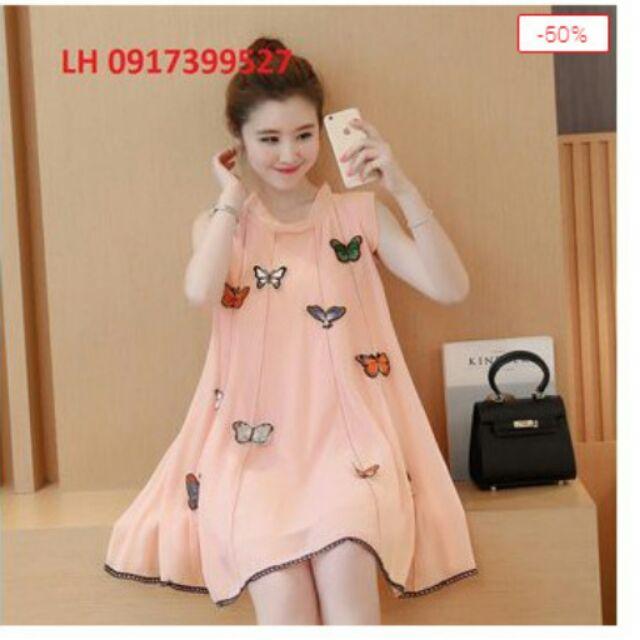Đầm bầu váy bầu đầm suông thời trang Hàn Quốc
