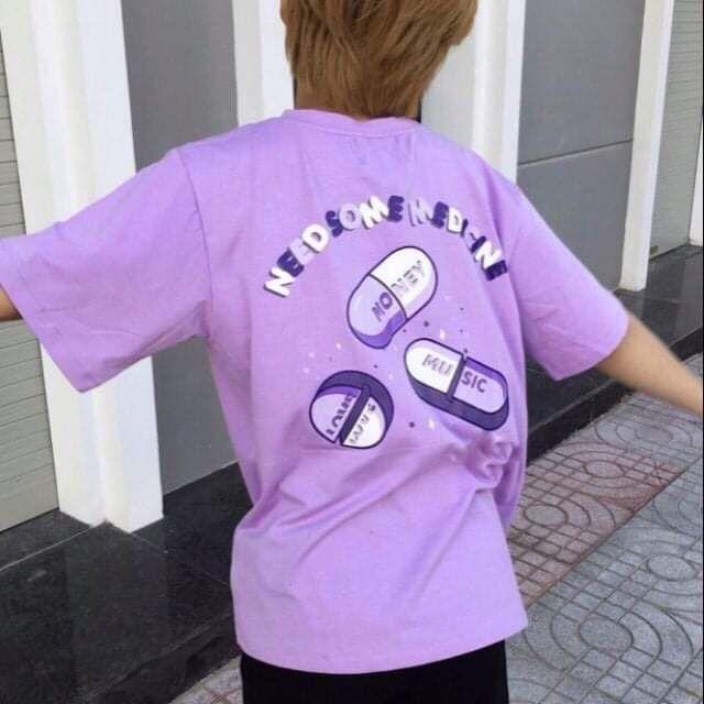 áo thun unisex tím cute #LN
