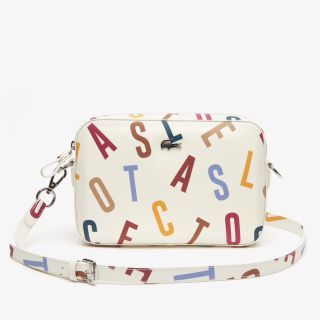 LACOSTE DAILY CLASSIC PRINTED COATED CANVAS SHOULDER BAG