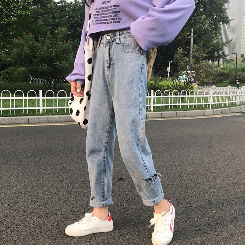 quần jeans lưng cao dáng ôm thời trang cho nữ