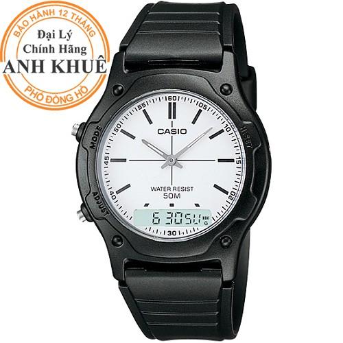 Đồng hồ nam dây nhựa Casio chính hãng Anh Khuê AW-49H-7EVDF