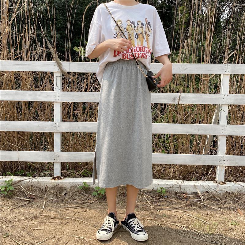 Chân Váy Dài Xẻ Tà Thời Trang Cho Nữ