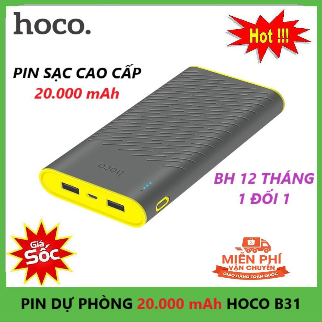 [BH 12t] Pin Sạc Dự Phòng 20000 mAh |Tương Thích Iphone Anroid | Chính Hãng Hoco B31