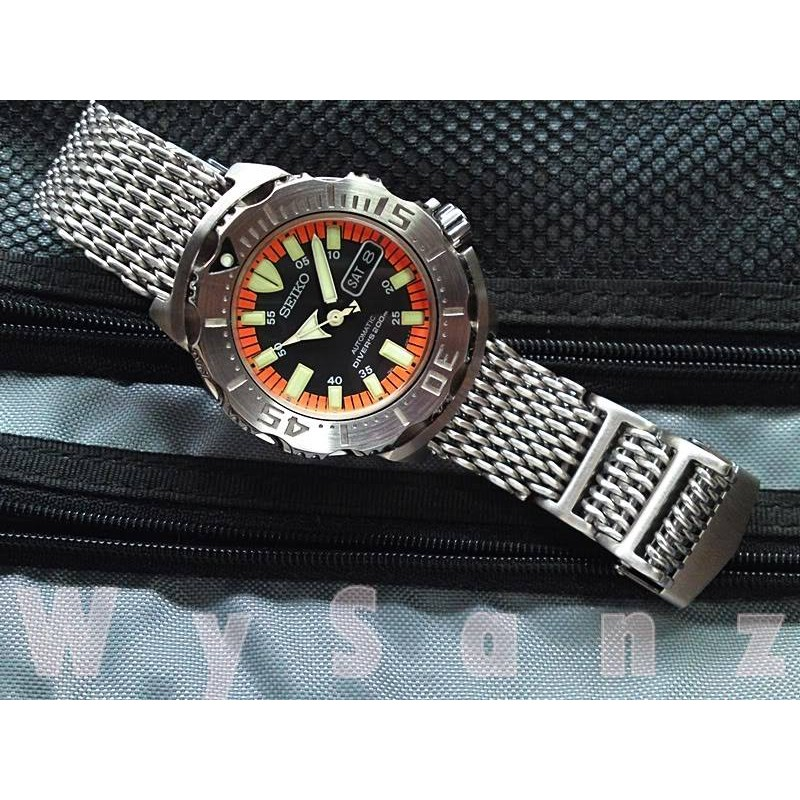 dây đồng hồ Mesh Shark (mesh mắt to)