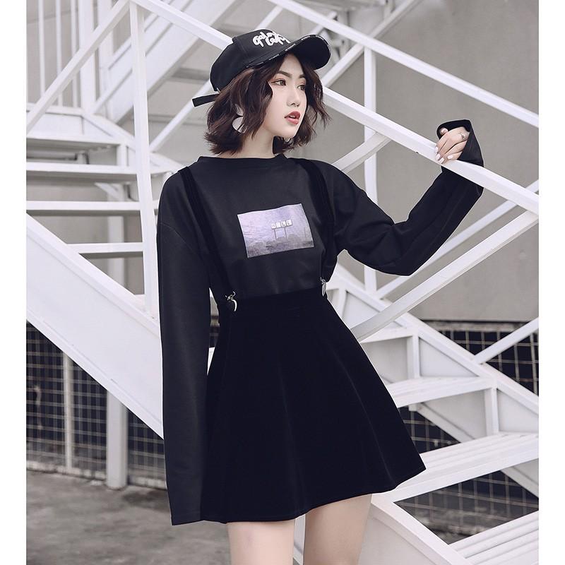 Chân Váy Nhung Dáng Dài Thoáng Khí Trẻ Trung Hợp Thời Trang Cho Nữ
