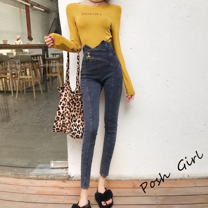 Quần Jeans Skinny Lưng Cao Thời Trang 2020 Cho Nữ
