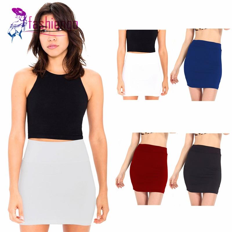 Chân váy bút chì lưng cao chất Cotton thiết kế ôm sát quyến rũ