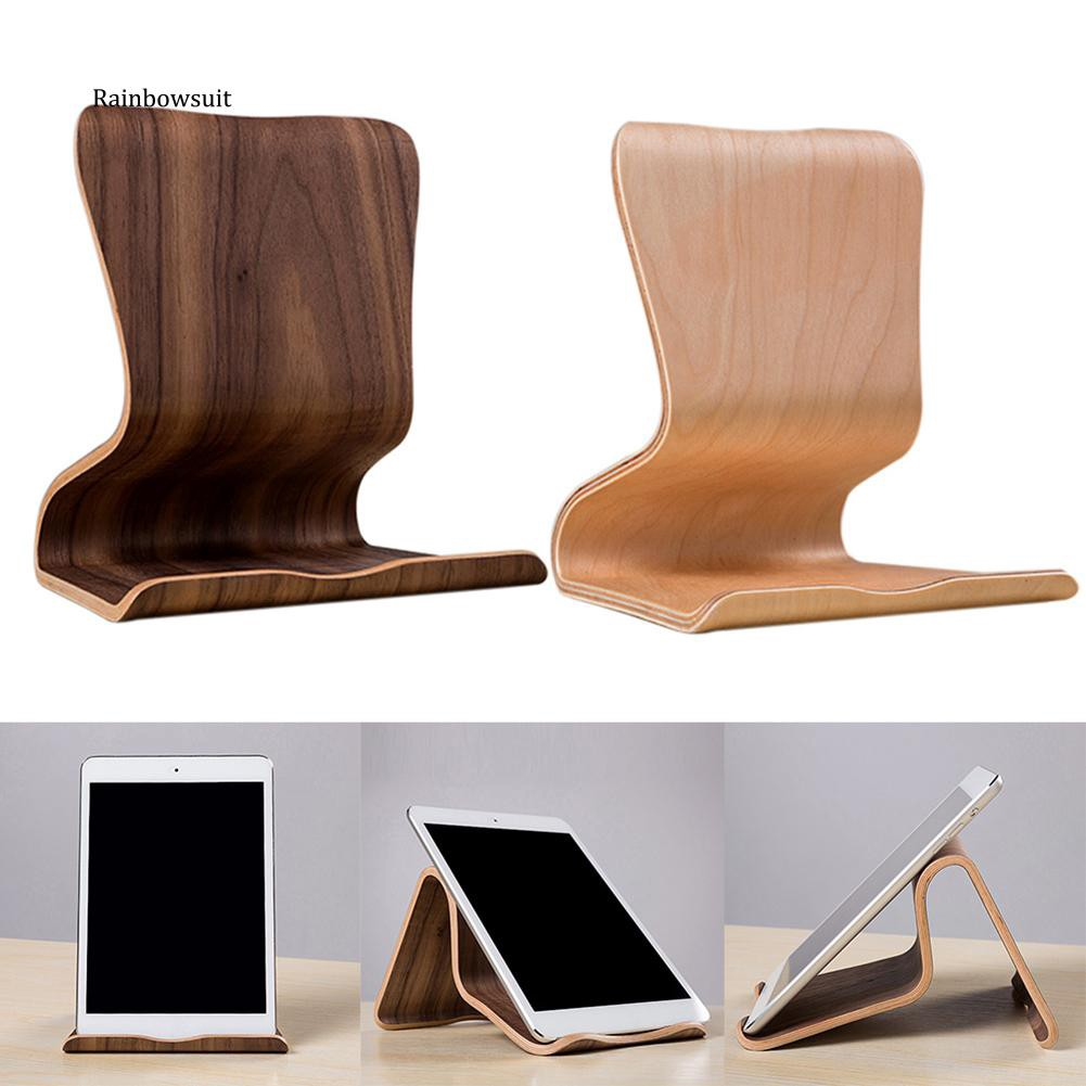 Hình ảnh 【RB】SAMDI Wooden Universal Tablet PC Phone Stand Holder Bracket for iPad Samsung Tab