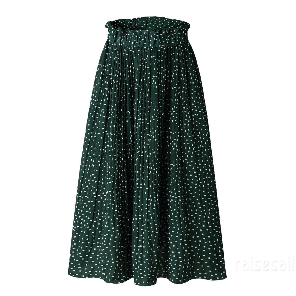Chân váy hoa dài lưng thun phong cách boho cho nữ