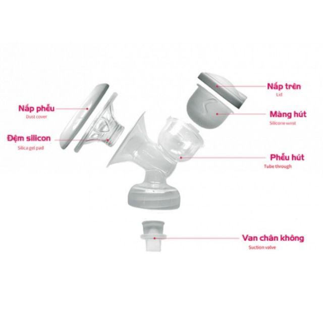 Bộ phụ kiện hút sữa cổ rộng dùng cho máy hút sữa điện