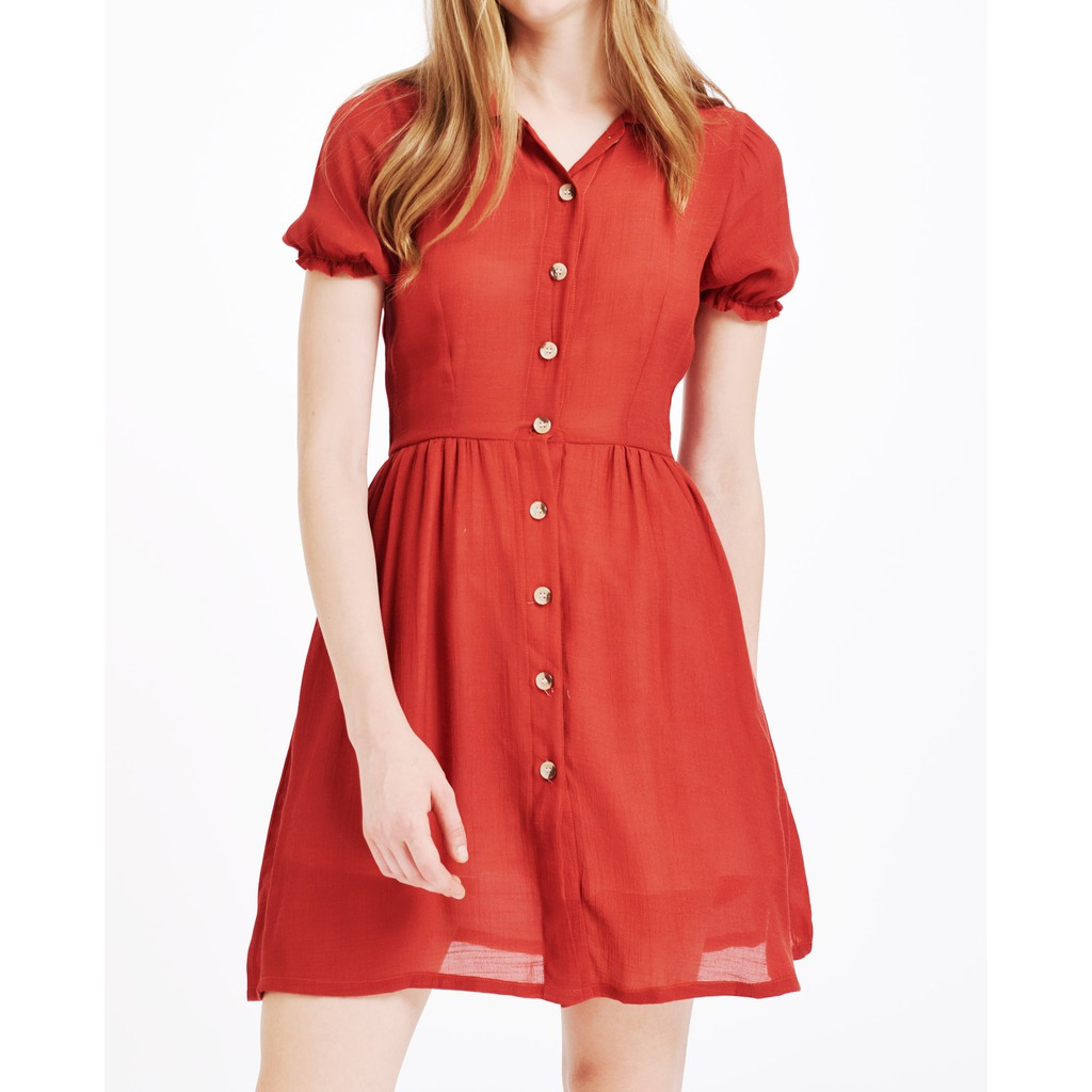 Áo đầm nữ The Cosmo Bella dress màu cam TC2005189OR