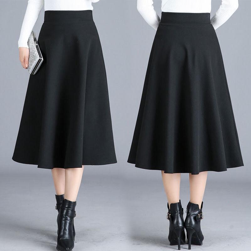 Chân váy caro dài lưng cao phong cách Hàn Quốc thời trang cho nữ