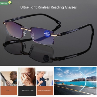 Hình ảnh EMILEE +1.0-+4.0 Degree Anti Blue-ray Ultralight Radiation Protection Reading Glasses Computer Goggles Rimless Diamond-cut Unisex Gaming Presbyopia Eyewear/Multicolor