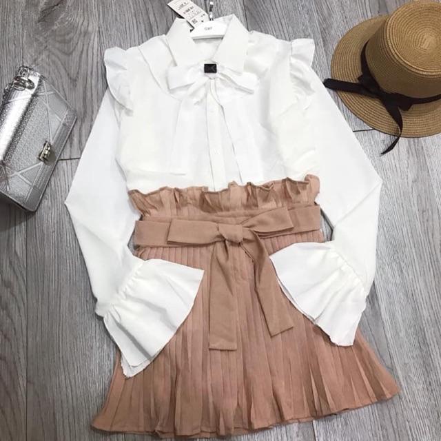 Set chân váy + áo tiểu thư