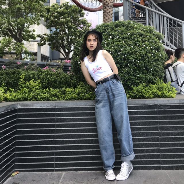 Thanh lí quần jean ống suông phong cách retro siêu xịn siêu xinhhhhhhhhh