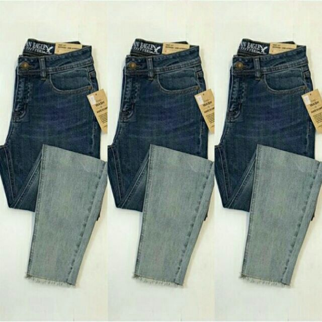 Quần jeans boyfriend ombre VNXK 9 tấc chất vải mềm mại co giãn, form ôm tôn dáng
