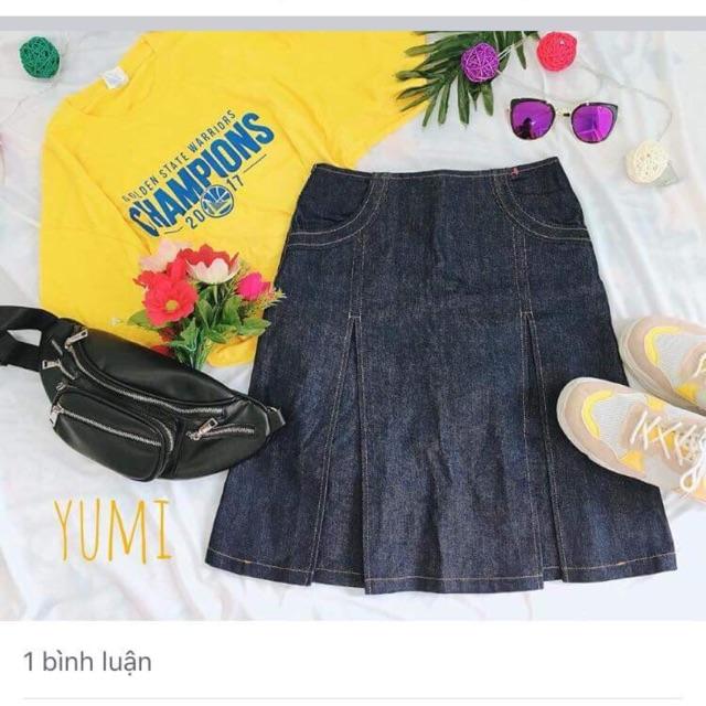 Combo chân váy jean đẹp vintage Hàn