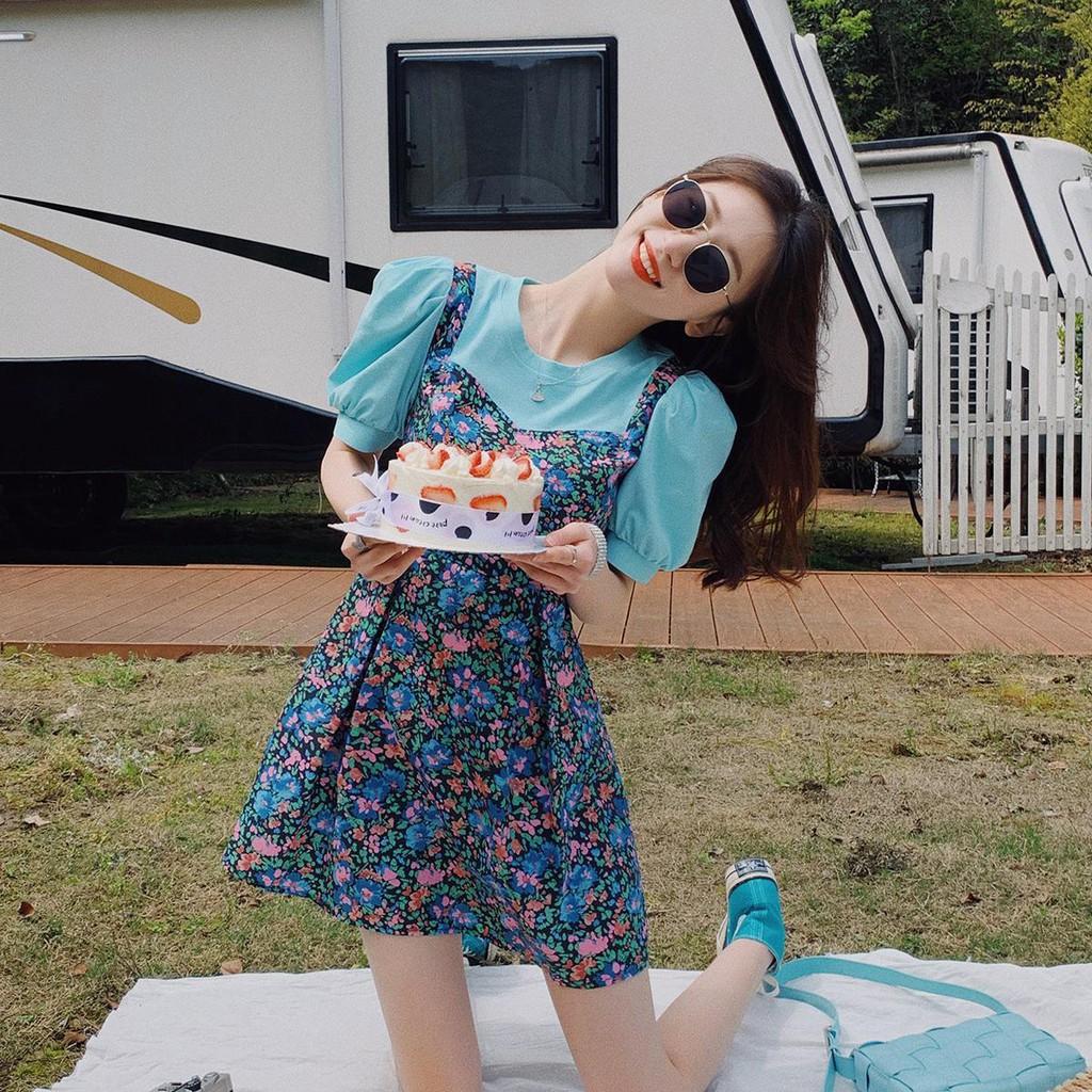Chân Váy Ngắn In Hoa Kiểu Hàn Quốc Xinh Xắn Cho Nữ