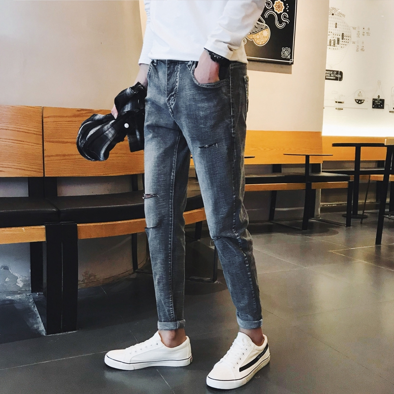 SXMshop.vn  Pants Koreantrouser spot men's clothing original wild men's Thời Trang Nam ></noscript> Quần > Quần Jean