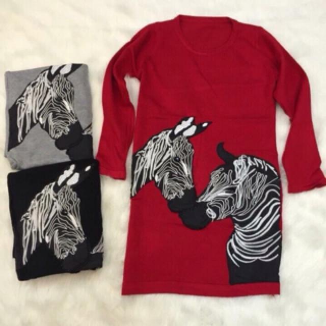 Váy Len ngựa vằn