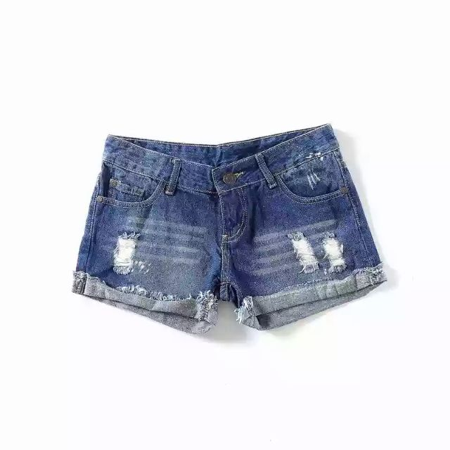 Quần shorts jeans rách xắn gấu TQXK (có sẵn)