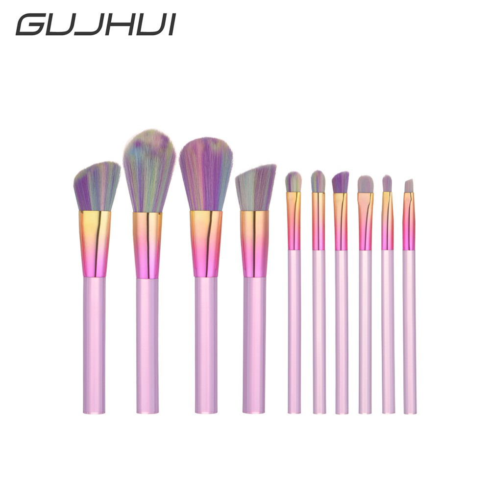 10Pcs Blending Pencil Foundation Eye shadow Makeup Brushes Eyeliner Brush