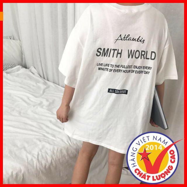 [Sale Off 50%] Áo Thun Tay Lỡ Atlantis Màu Trắng Unisex áo thun style hàn quốc,phong cách,áo thun thời trang mùa hè