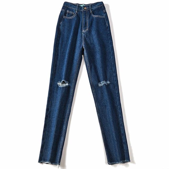 Quần jeans skinny rách gối Korea (ảnh 2)