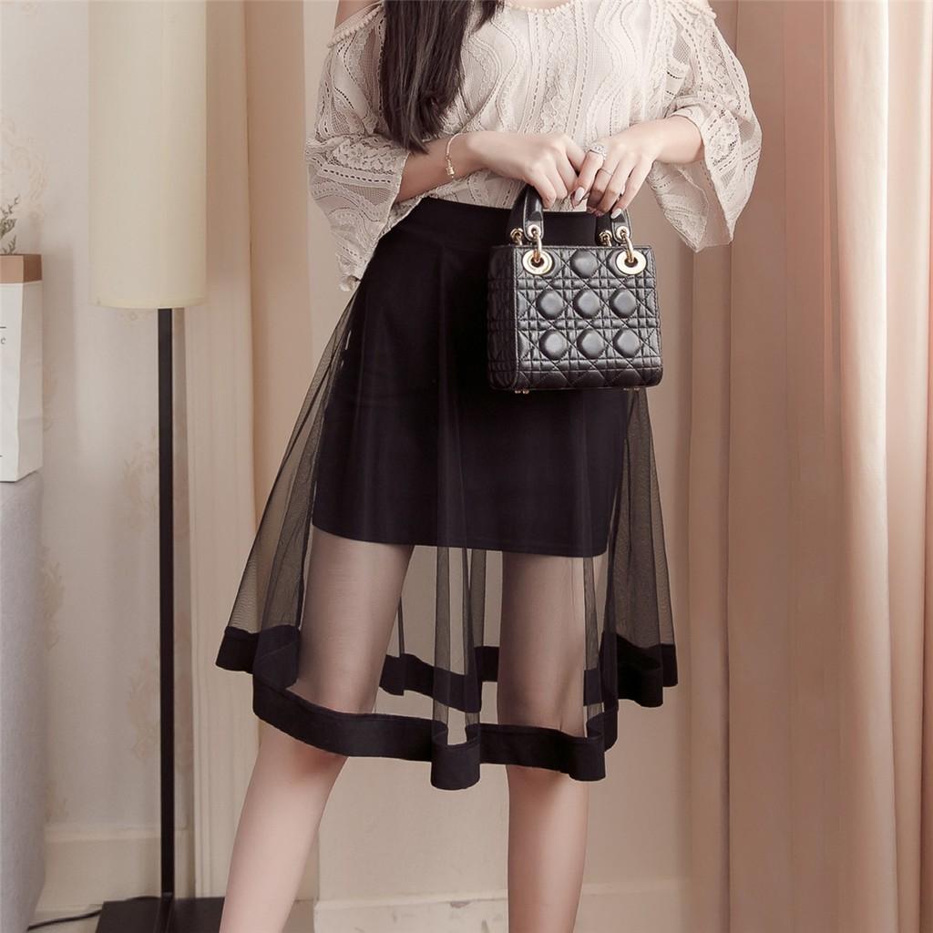 chân váy nữ dạng lưới quyến rũ