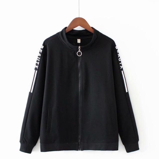 Áo khoác big size thun dày màu đen size 90-100kg