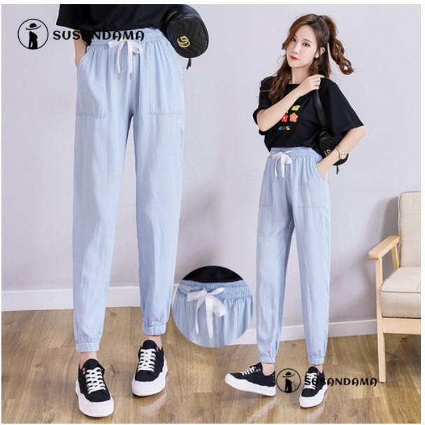 Quần jean nữ lưng cao co dãn thời trang