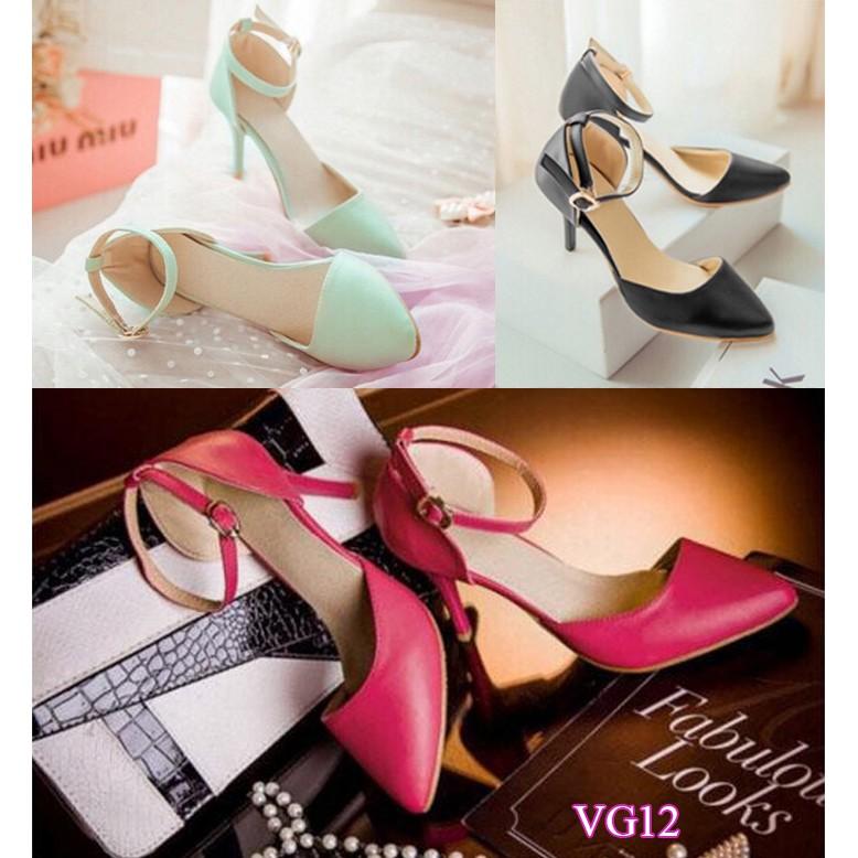 Giày cao gót mũi nhọn VG12