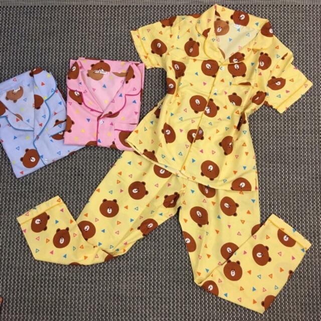 Bộ Pijama Quần Dài Áo Cộc