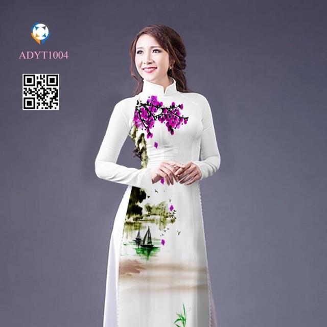 Vải áo dài in 3D