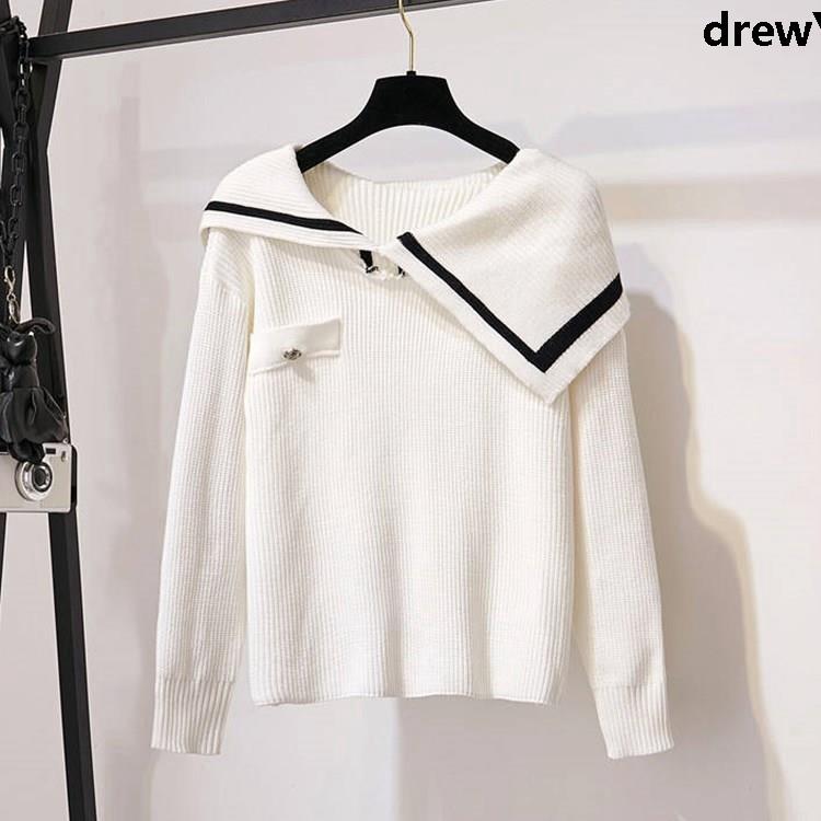 Set Áo Sweater Dệt Kim Và Chân Váy Thời Trang 2019 Xinh Xắn Cho Nữ 2019