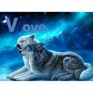Diamond Painting Animal Wolf Embroidery Children'S Hobbies And Crafts